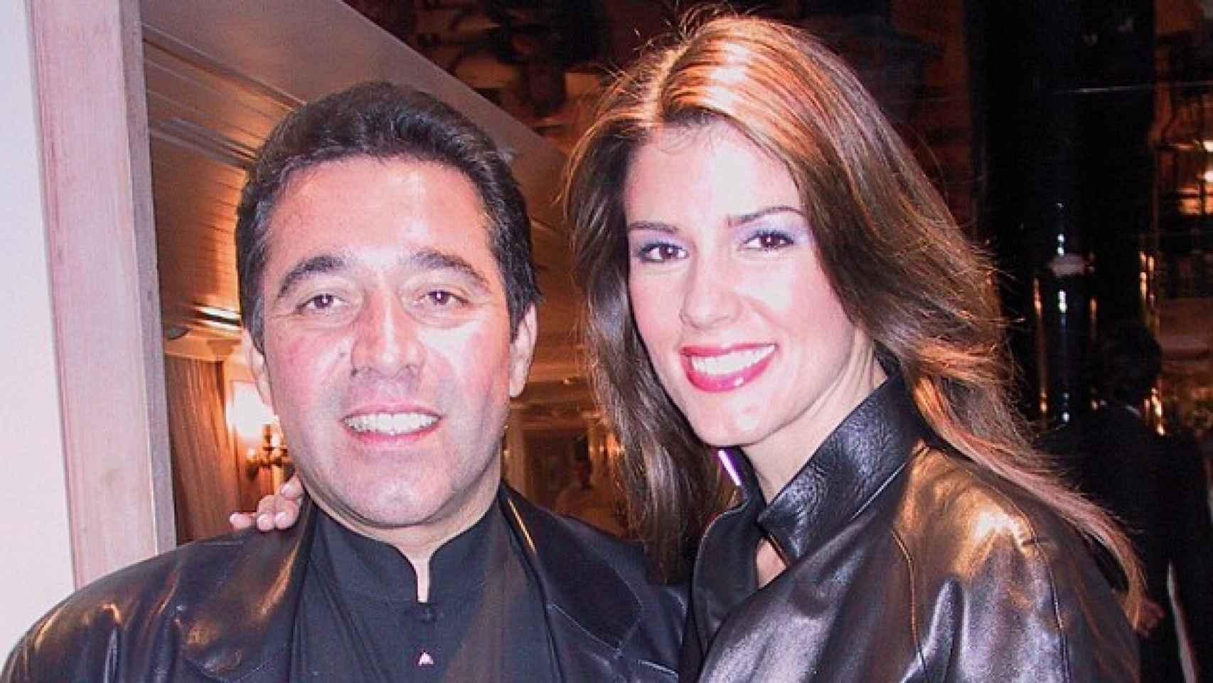 Christina Estrada y su ex marido, a la salida de una fiesta.