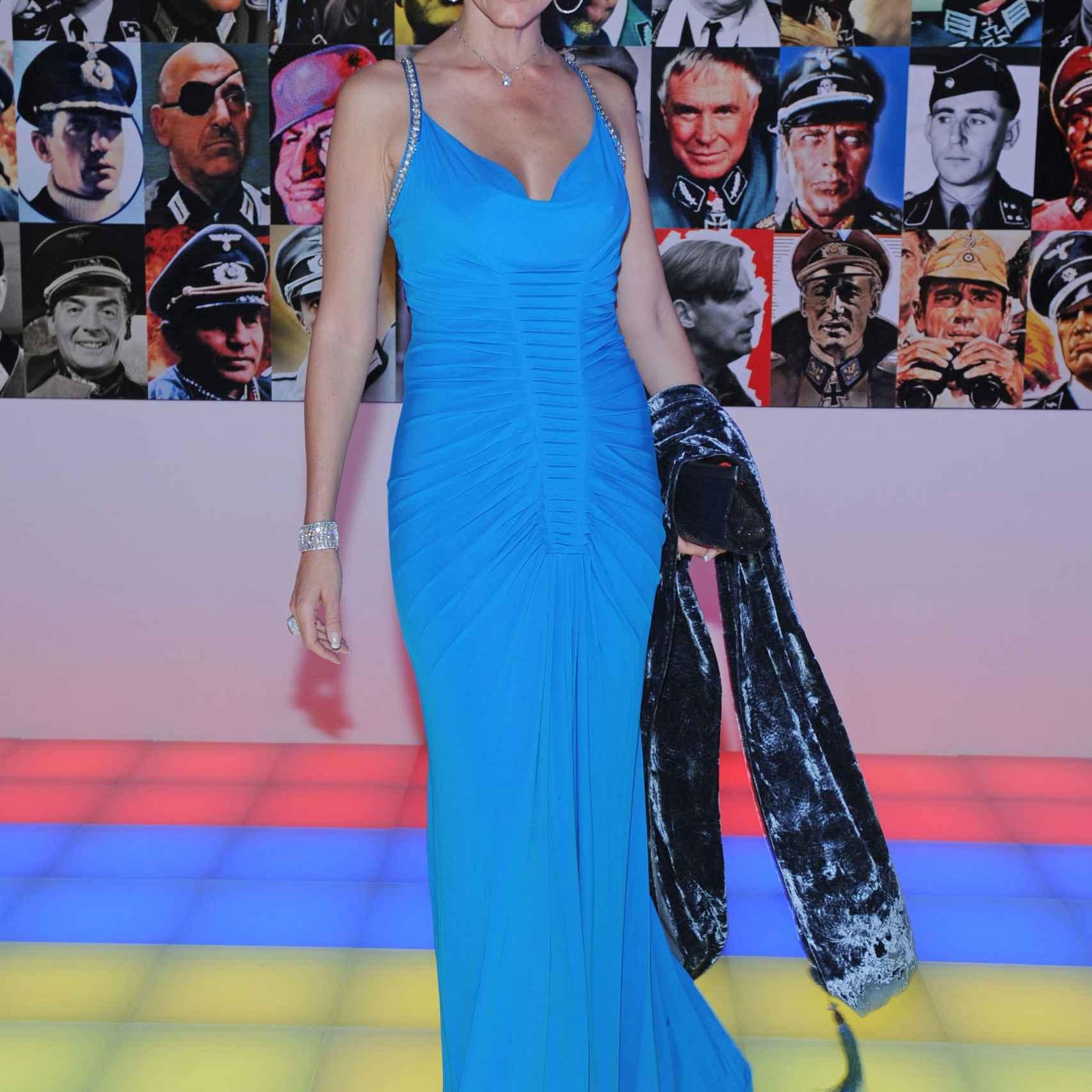 Christina Estrada en una fiesta en Venecia.