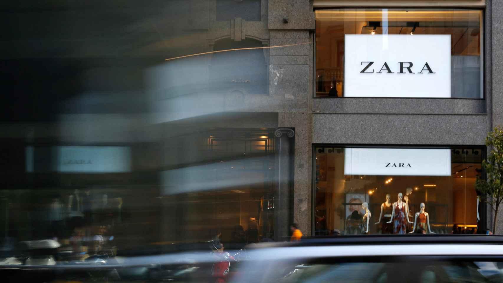 Exterior de un establecimiento de Zara, del grupo Inditex.