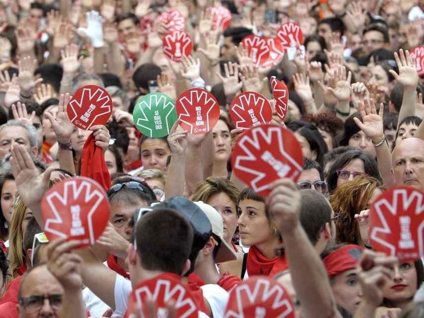 Pamplona salió a la calle el día 7 para condenar las agresiones.