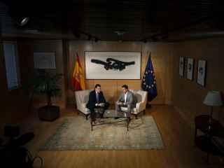 Mariano Rajoy junto con el presidente de C´s, Albert Rivera.