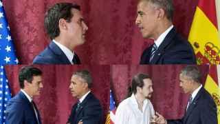 Tres minutos para hacerse la foto con Obama, más de 48 horas para conseguirla