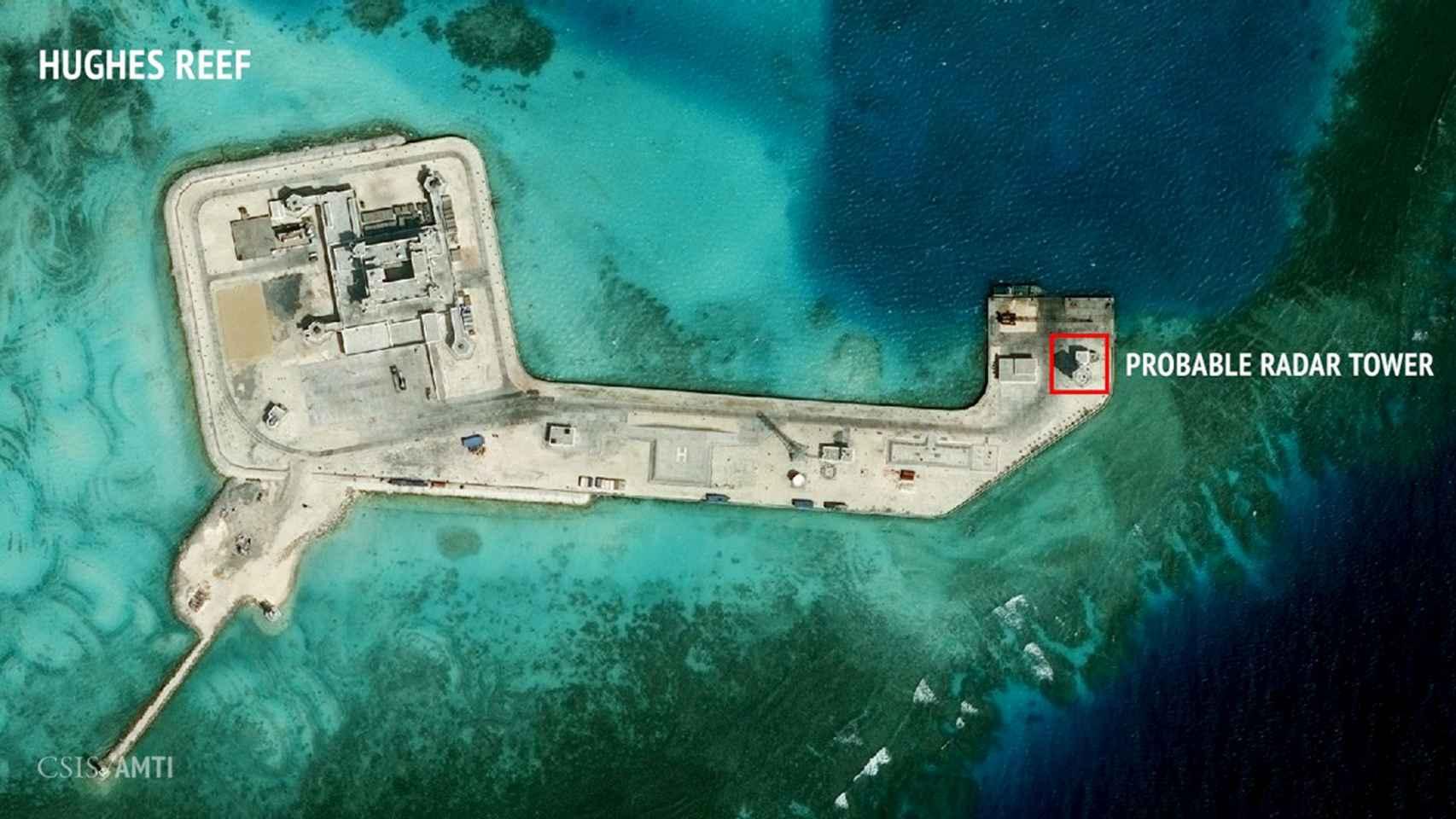 Arrecife Hughes, ubicado en las islas Spratly.
