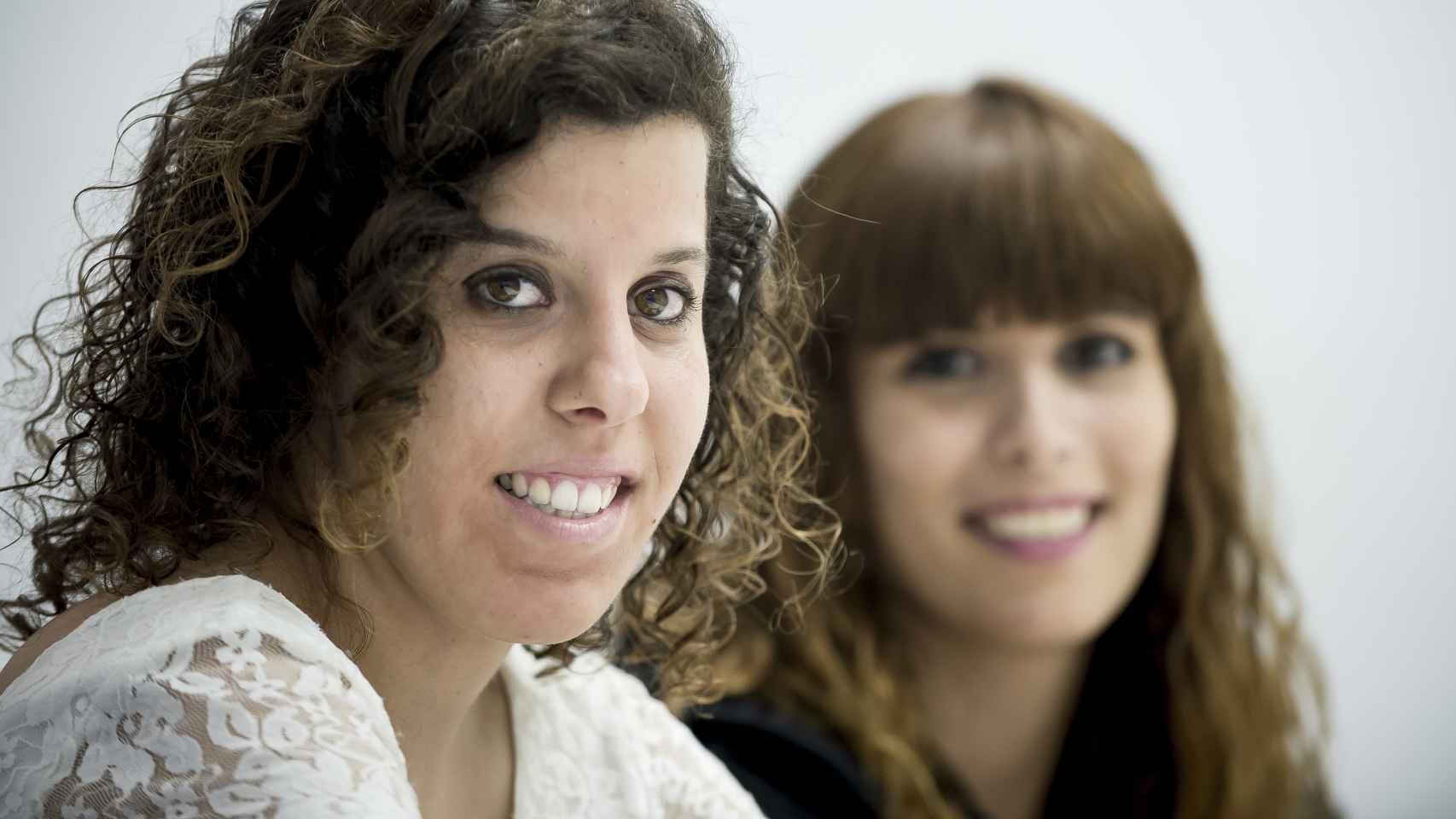 María Fernández y Miriam Jubín, dos alumnas del proyeco CAMPVS