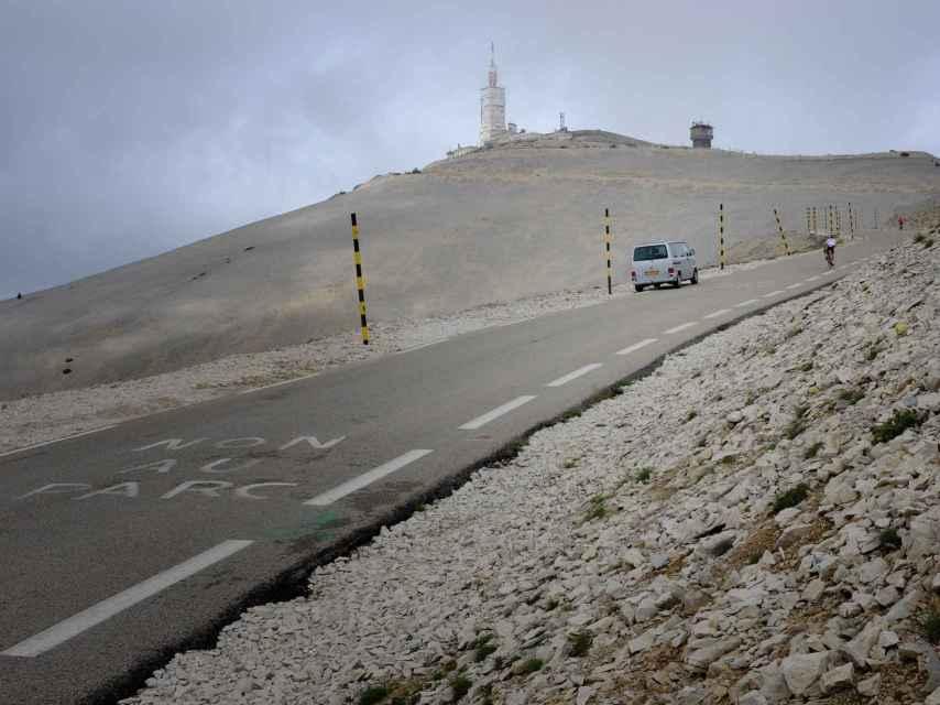 La subida al Mont Ventoux.