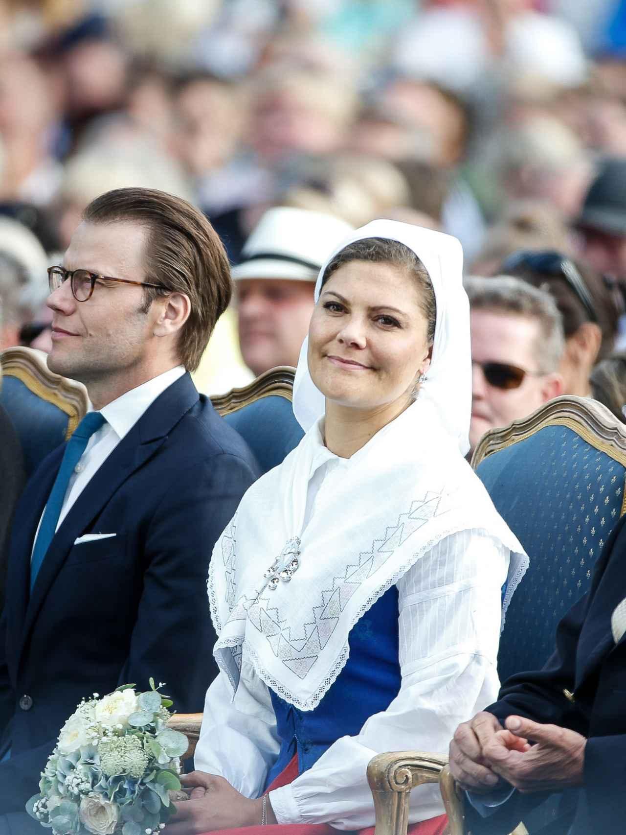 Victoria de Suecia, en la celebración de su cumpleaños en 2015.