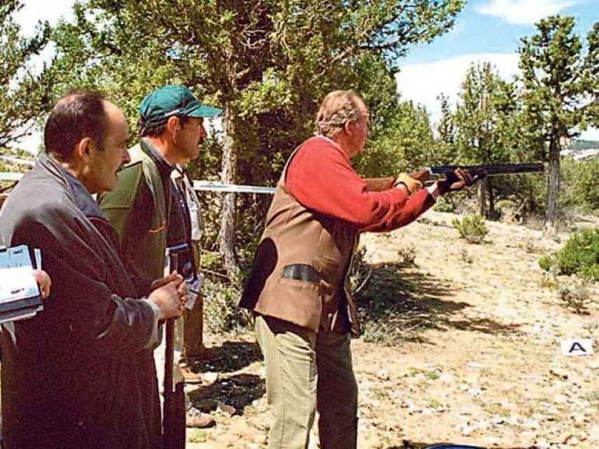 Don Juan Carlos durante una jornada de caza.