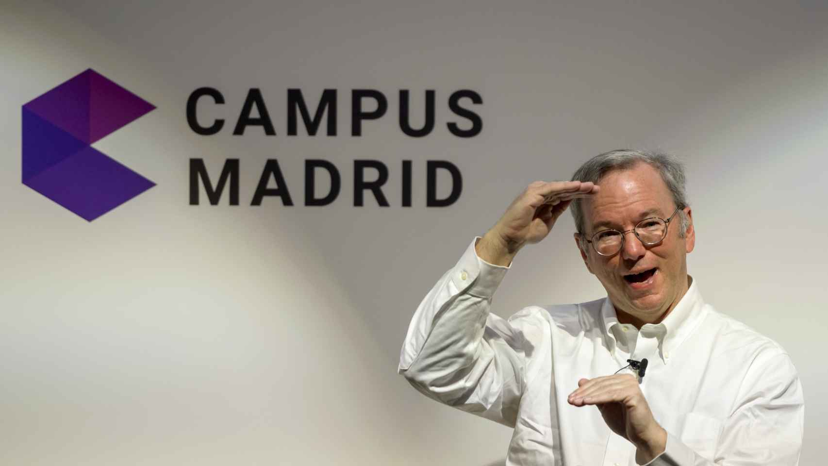 Eric Schmidt, presidente de Google, en un acto del Campus de Madrid.