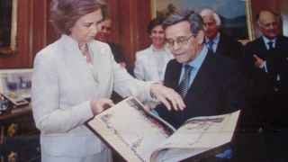 El presidente de AyN con la Reina Sofía en La Zarzuela