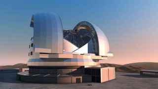 Recreación artística del E-ELT que se está construyendo en Chile.
