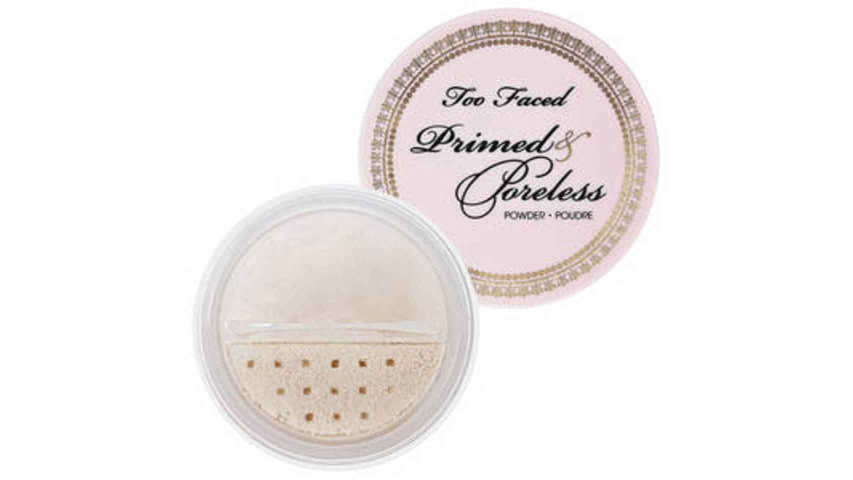 Polvos sueltos translúcidos Primed & Poreless de Too Faced, 29,50€.