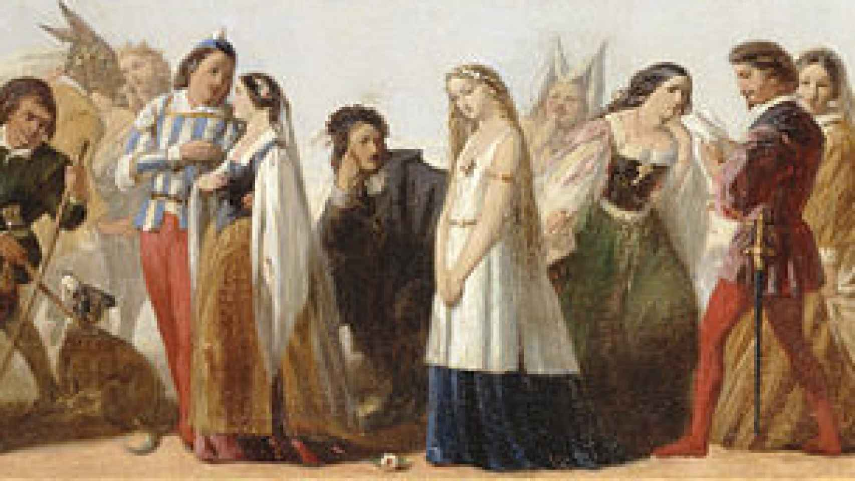Desfile de personas de Shakespeare, obra de artista desconocido.