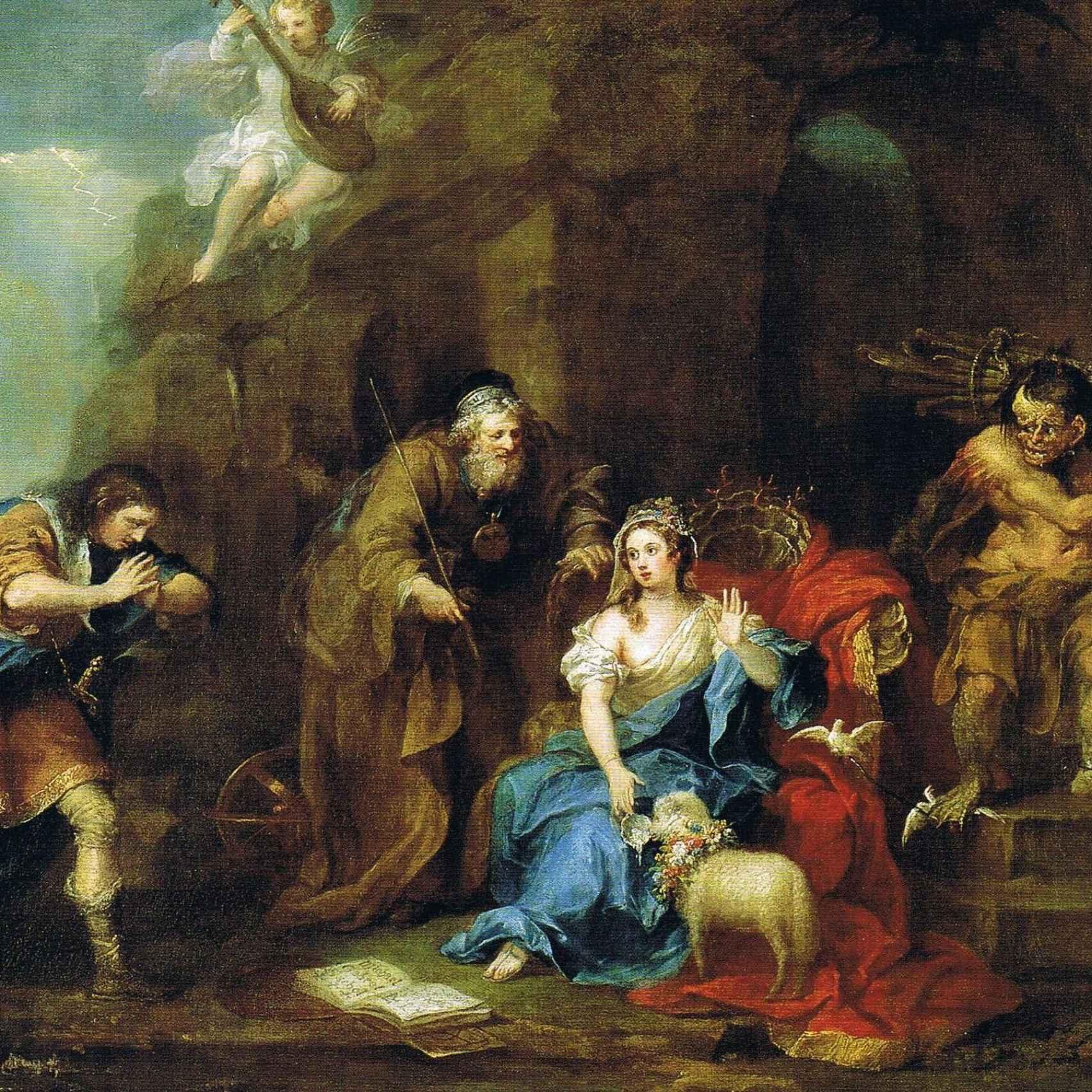 Representación pictórica de 'La Tempestad' de William Hogarth.