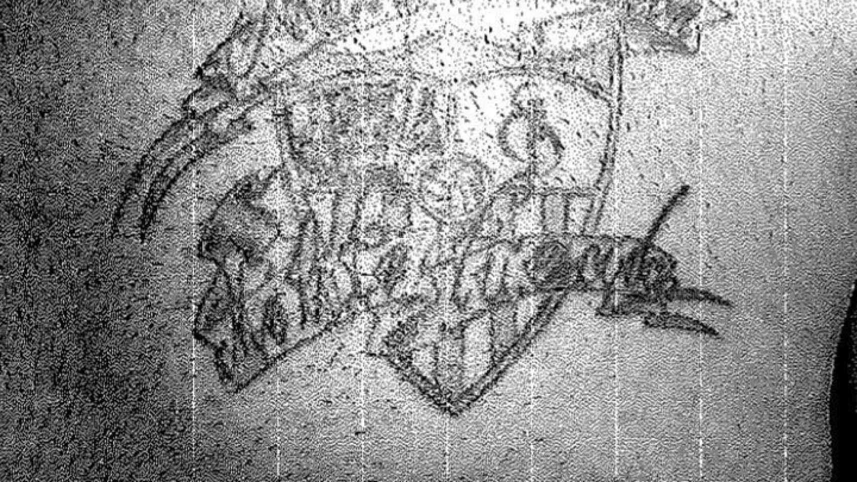El escudo del Sevilla, tatuado en la piel de Prenda.