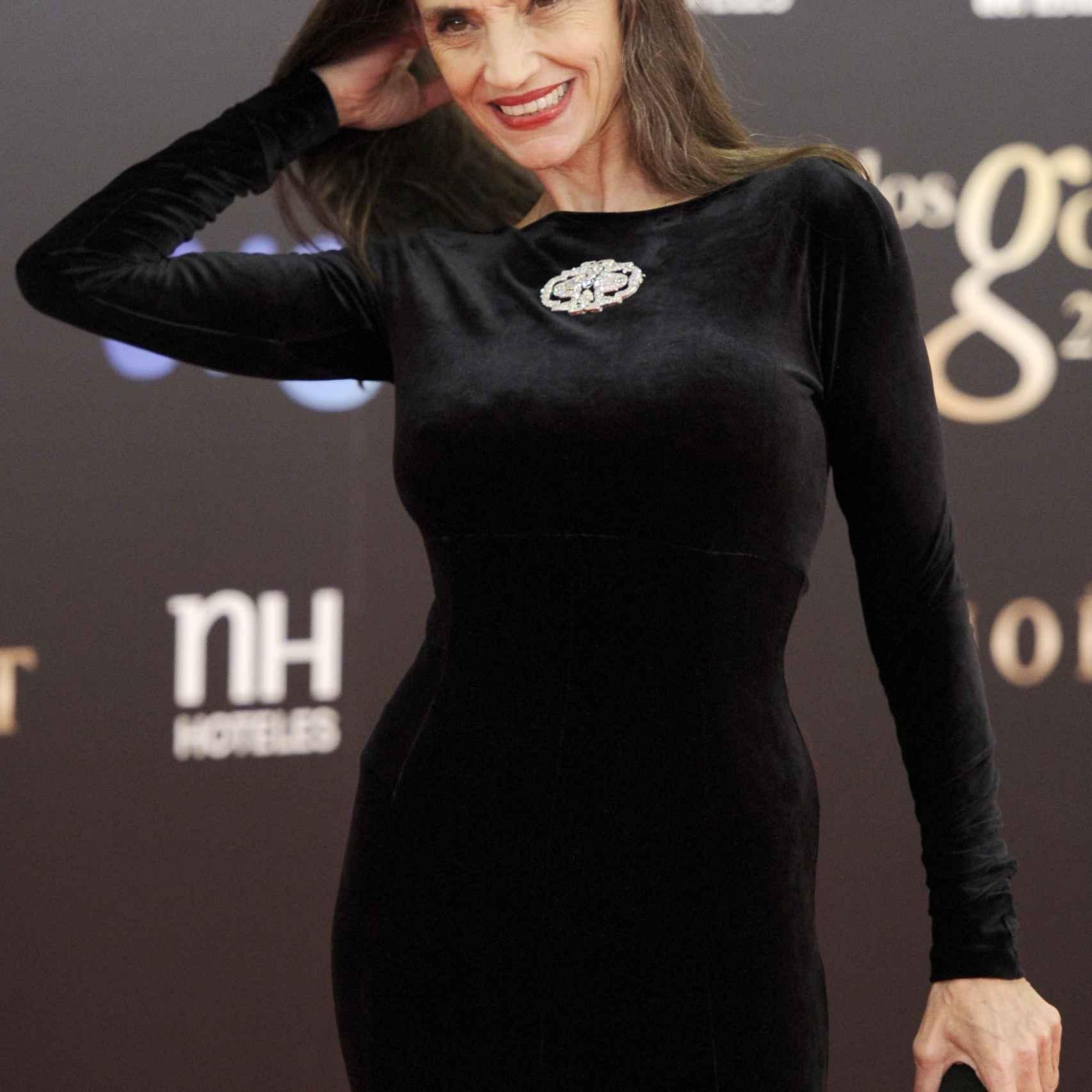 Ángela Molina, durante los premios Goya.