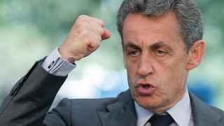 Nicolas Sarkozy durante un discurso.