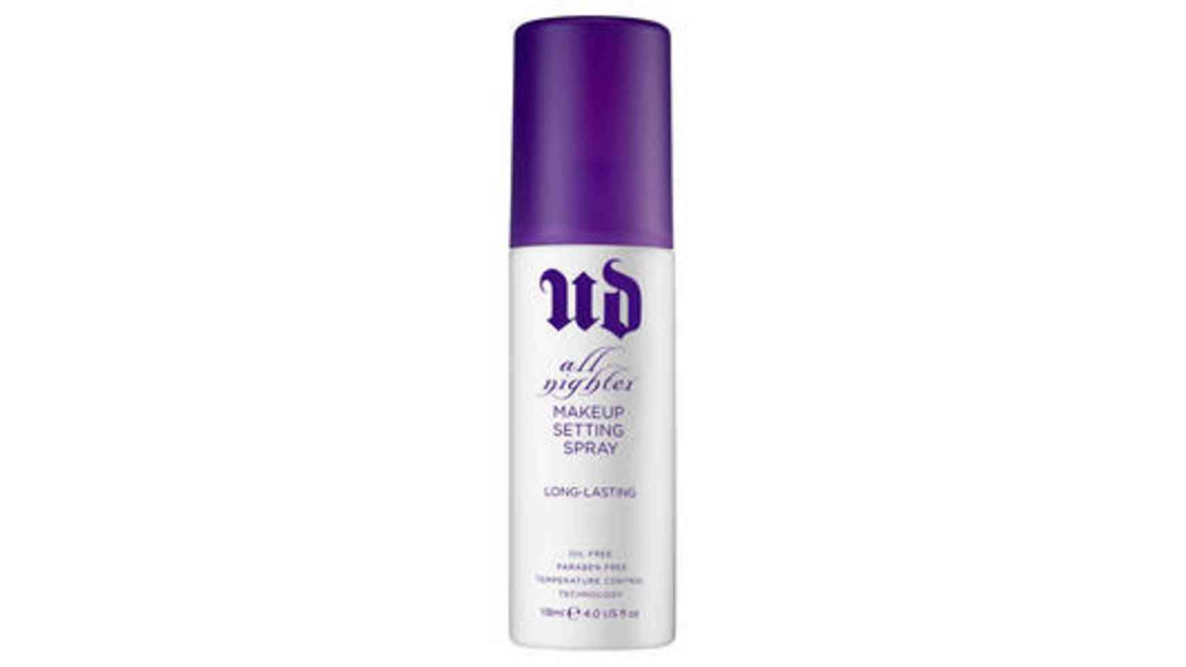Espray fijador All Nighter de Urban Decay, 27,50€.