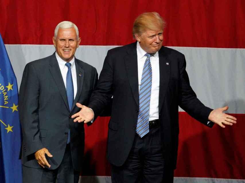 Mike Pence y Donald Trump, el virtual dúo electoral republicano.