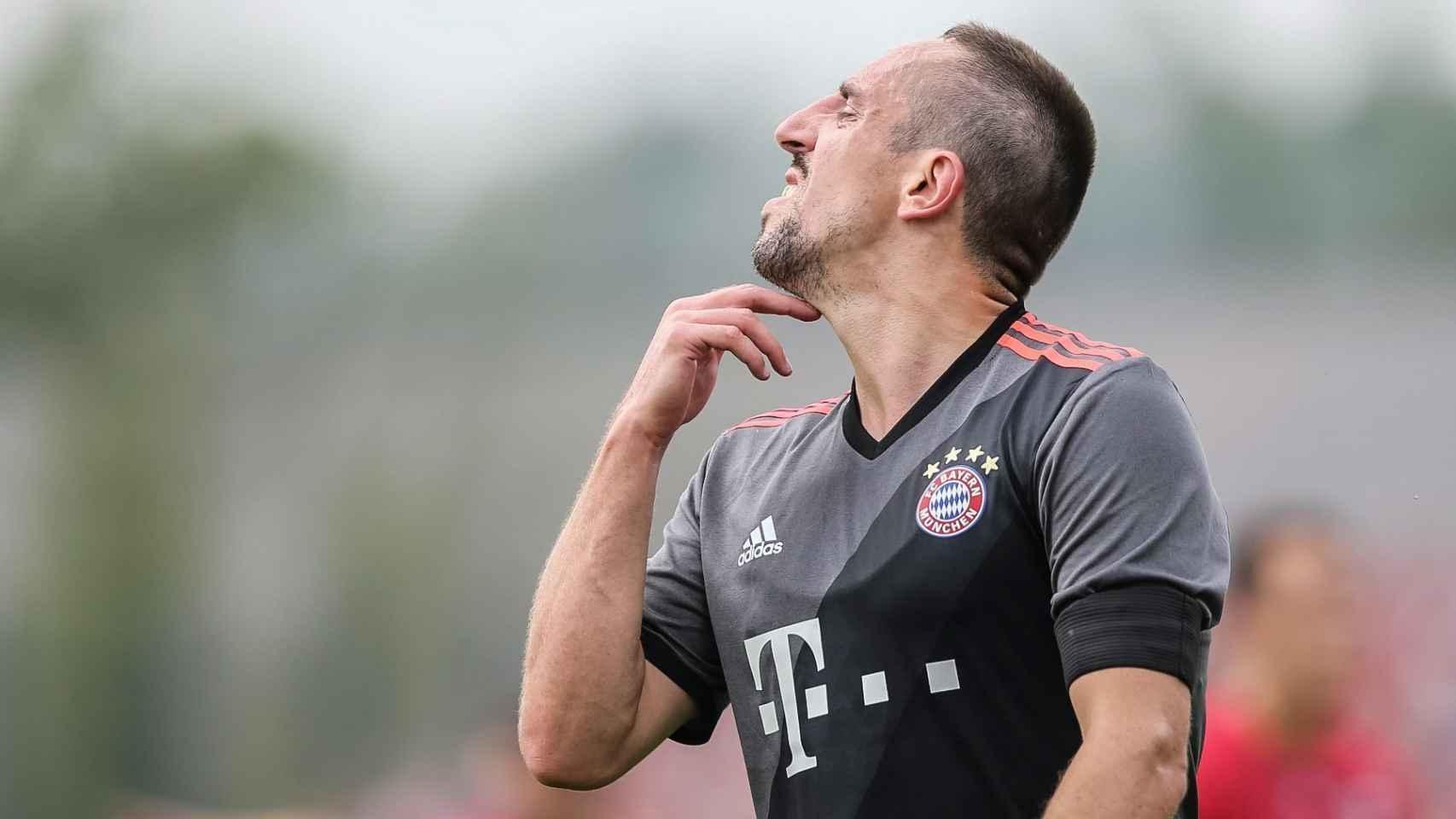 Ribéry en el partido amistoso ante el Lippstadt