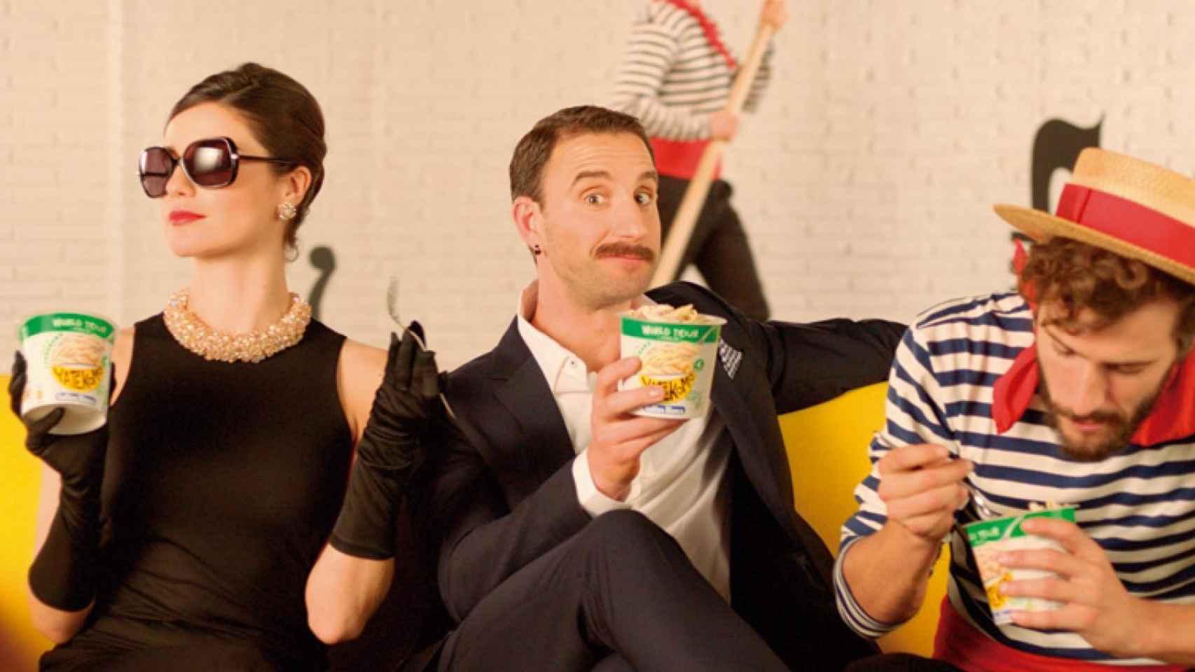 El actor Dani Rovira, protagonista de la campaña publicitaria de Yatekomo de Gallina Blanca.