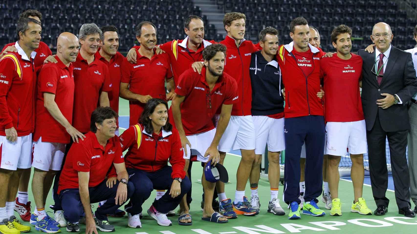 El equipo español de Copa Davis.