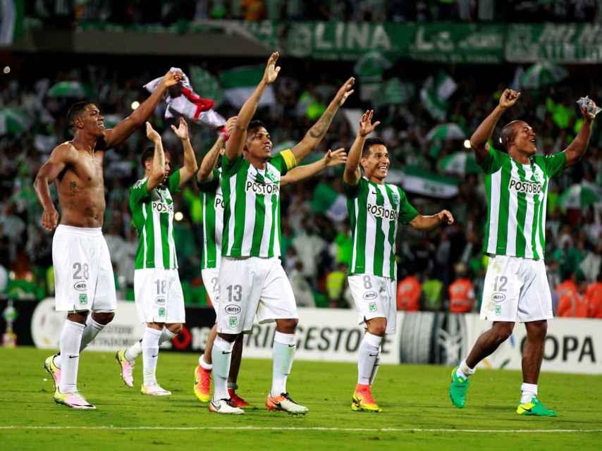 Atlético Nacional celebra el pase a la final.