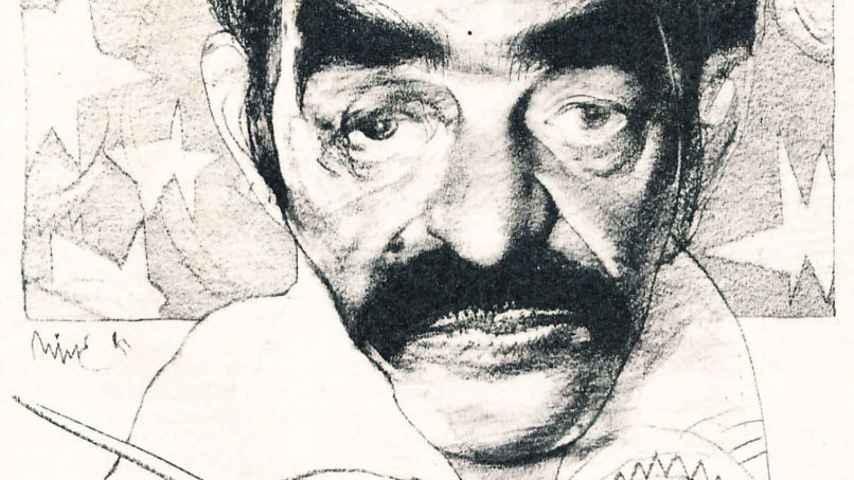 Caricatura de Gabriel García Márquez, hecha por Nine para El periodista.
