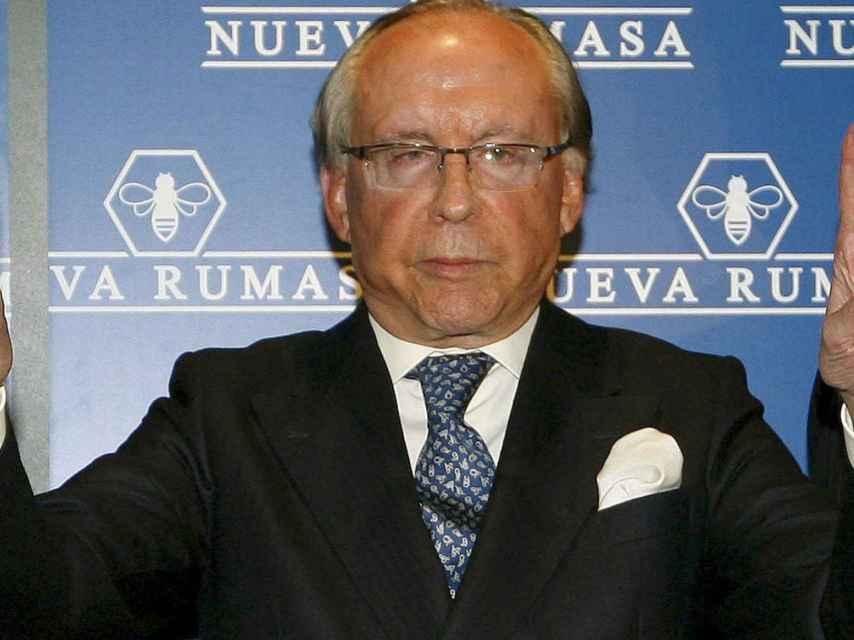 José María Ruiz Mateos, creador de Rumasa y coleccionista de relojes.