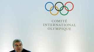 Thomas Bach, el presidente del COI en rueda de prensa.