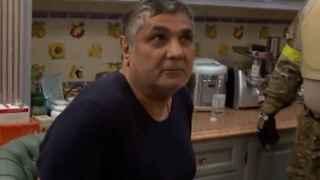 Kalashov en el momento de su arresto en Moscú