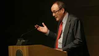 Linde, durante su discurso este lunes en Almería.