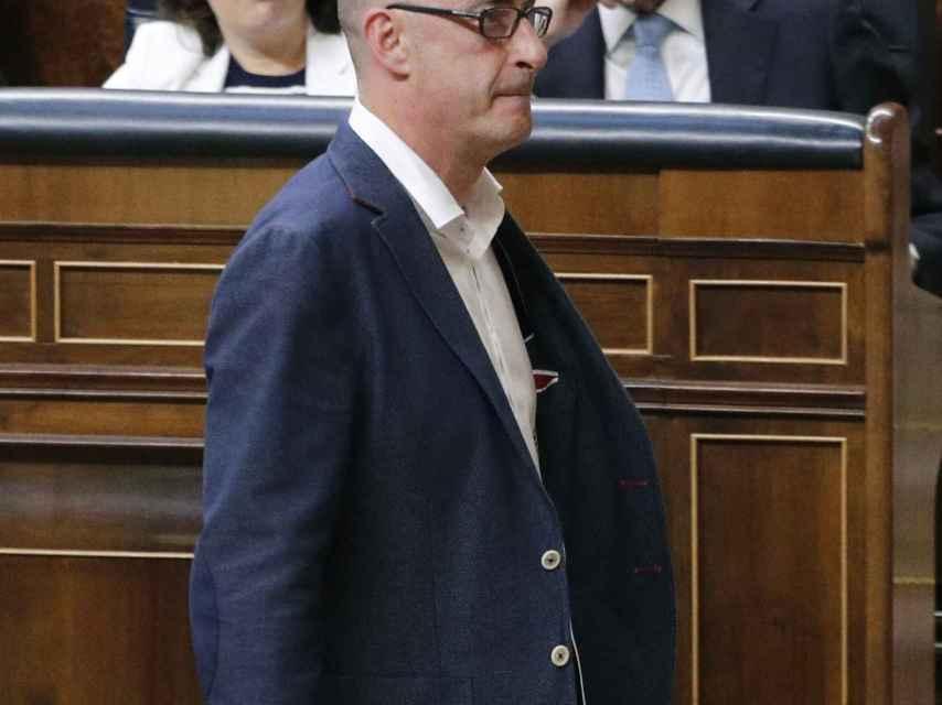 Felix Álvarez, 'Felisuco', en su primer día en el Congreso.