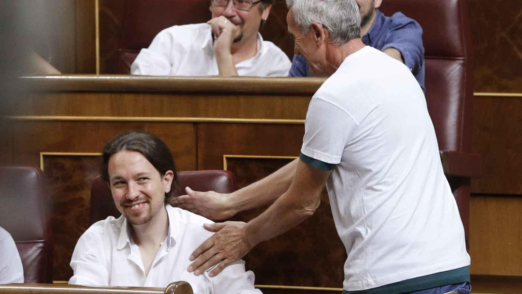 Diego Cañamero, esta mañana en el Congreso