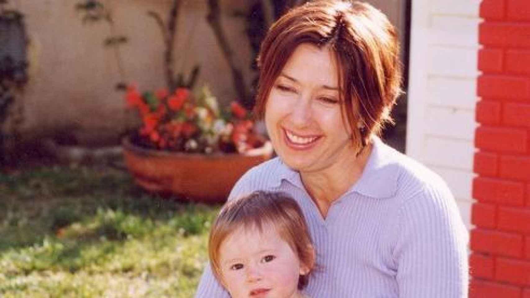 Christine Maggiore y su hija Eliza Jane.