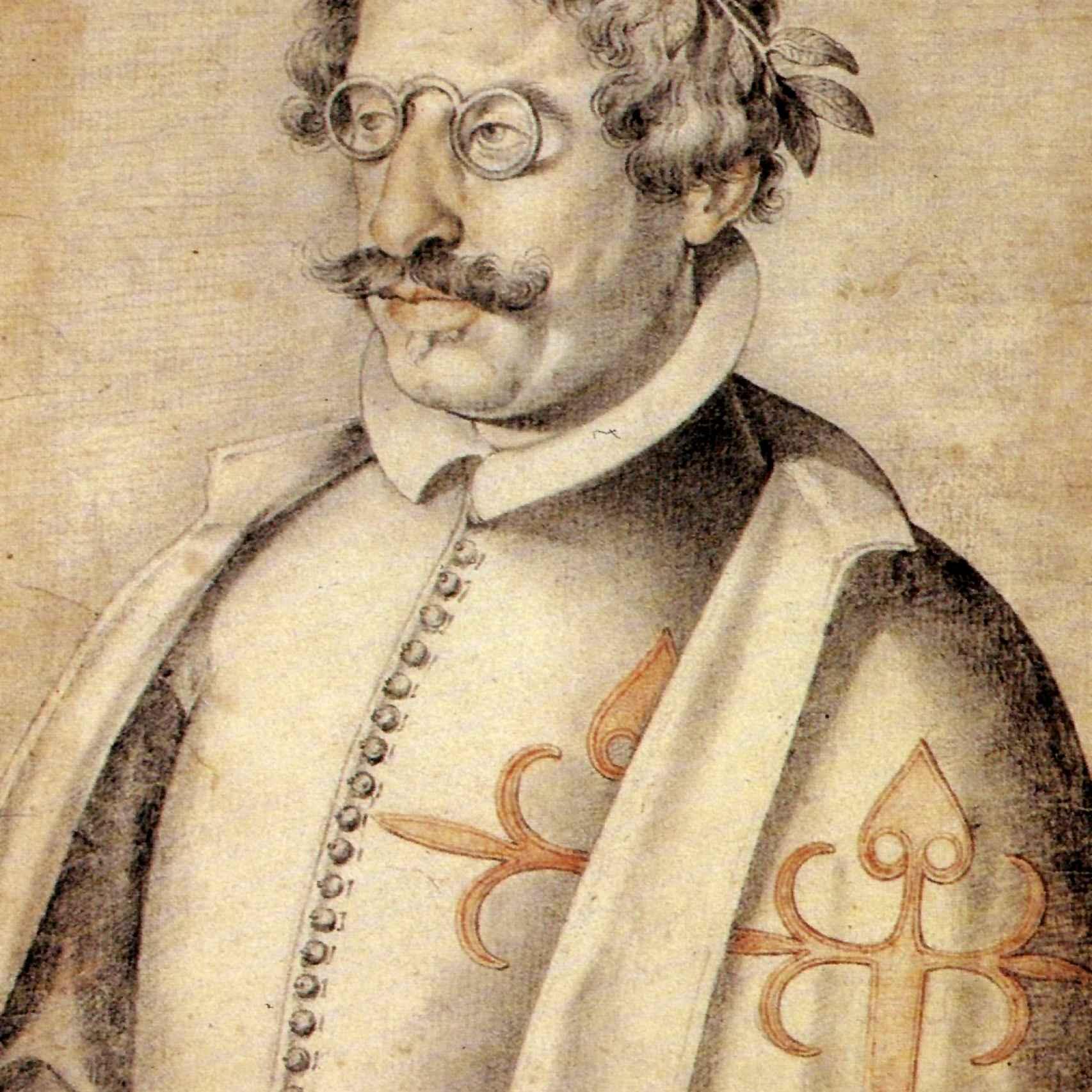 Francisco de Quevedo retratado por Francisco Pacheco.