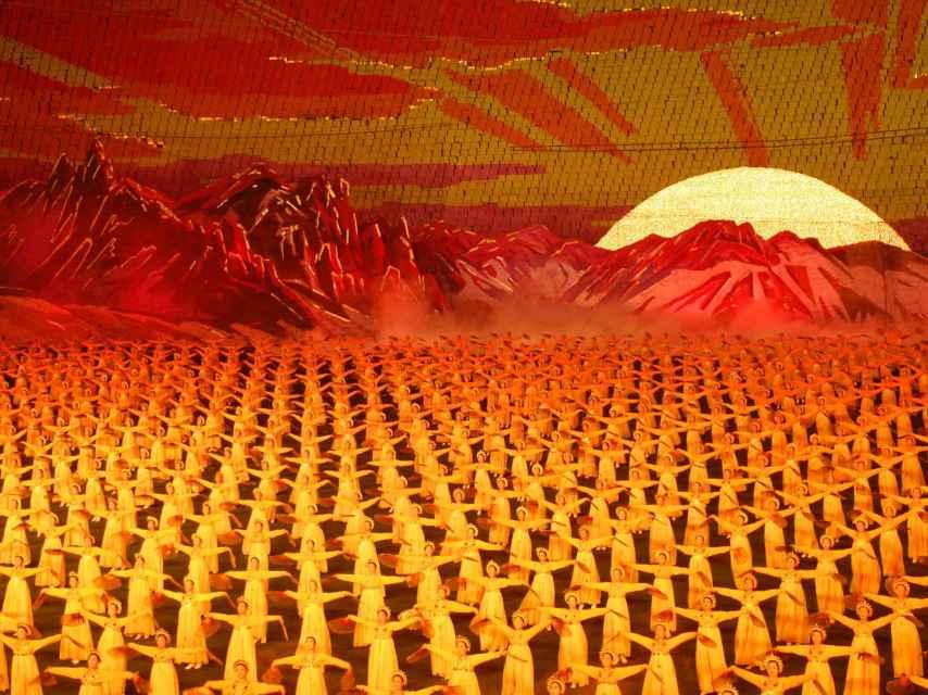 Una representación para el Querido Líder en Pyongyang, 2007.