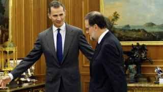 Felipe Vi junto con Mariano Rajoy.