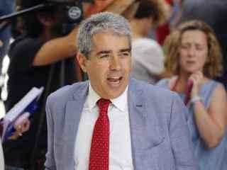 El líder de CDC en el Congreso, Francesc Homs, este martes en Madrid