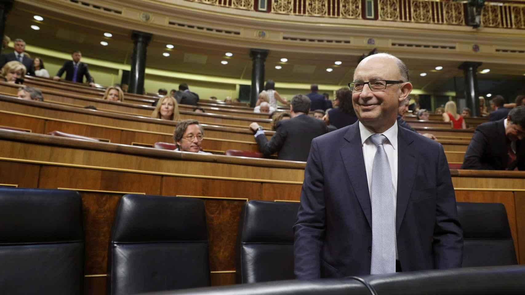 Cristóbal Montoro este martes en el Congreso.