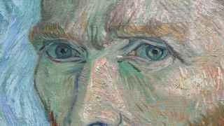 Fragmento de un autorretrato de Vincent Van Gogh.