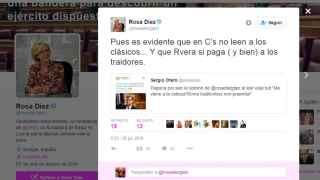 Rosa Díez llama traidor a Prendes y a Rivera, corruptor