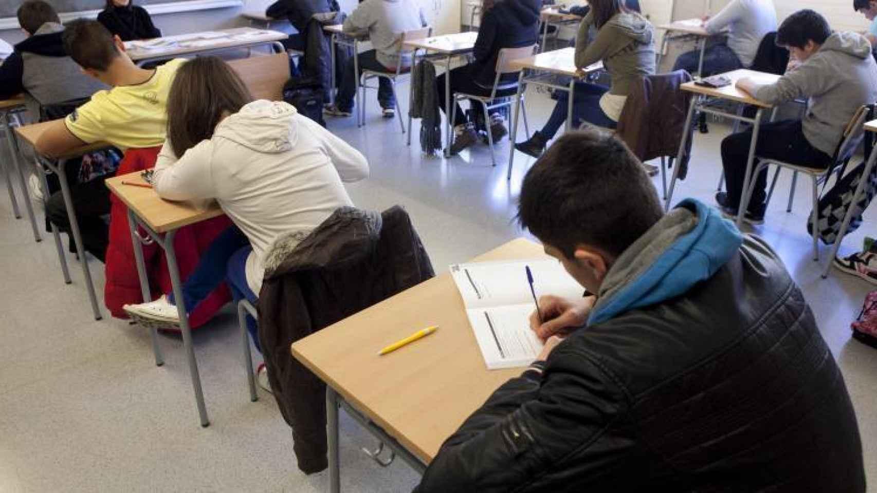 Alumnos en una clase de Educación Primaria