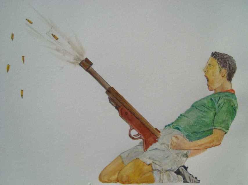 La obra Jerk off, del artista Ferhat Özgür, perseguido por el gobierno turco.