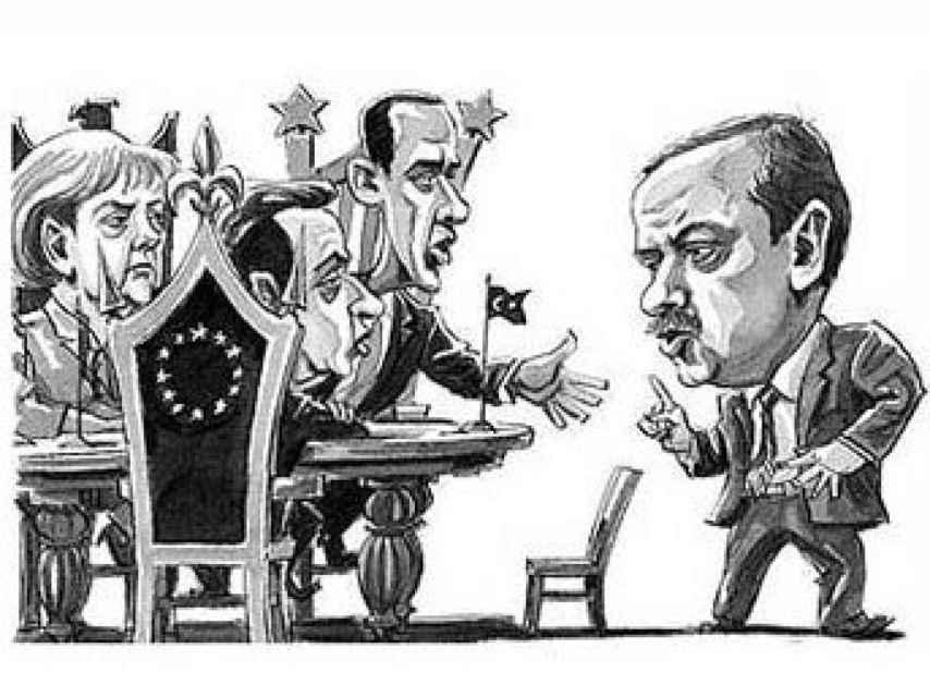 Obra del caricaturista Mehmet Düzenli.