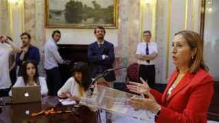 La presidenta del Congreso, este jueves en la cámara baja.