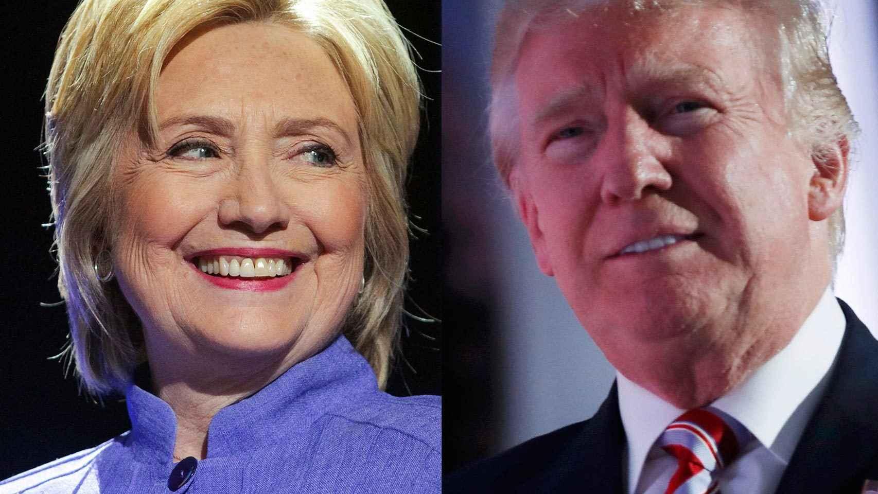 Hillary Clinton y Donald Trump, aspirantes a la Presidencia de los Estados Unidos