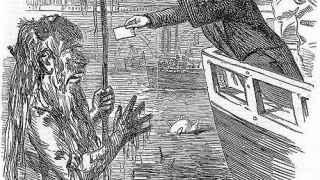 Ilustración del s. XIX sobre la peste de Londres.