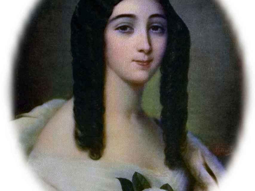 Rettrato de Marie Duplessis, la cortesana que enamoró a Dumas.