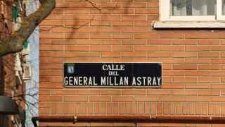 Placa de la Calle General Millán Astray en Madrid.