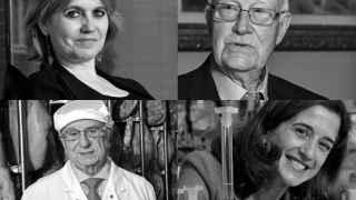 Rosa Tous, Gabriel Barceló, Tomás Fuertes e Inés Juste